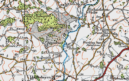 Old map of Began in 1919