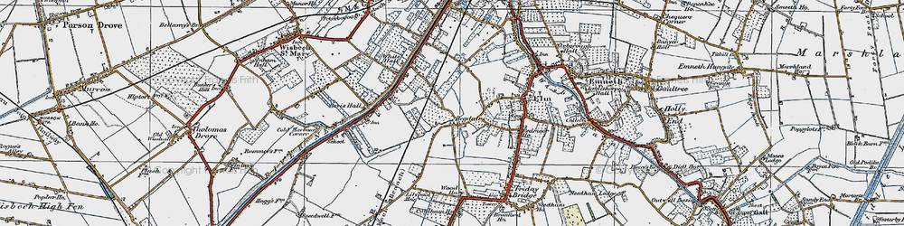 Old map of White Hall in 1922