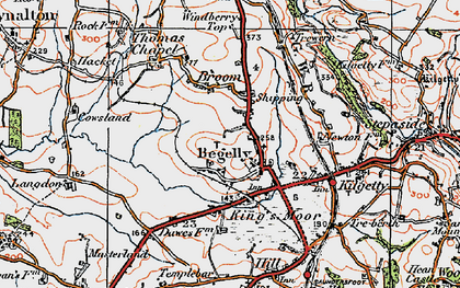 Old map of Begelly in 1922