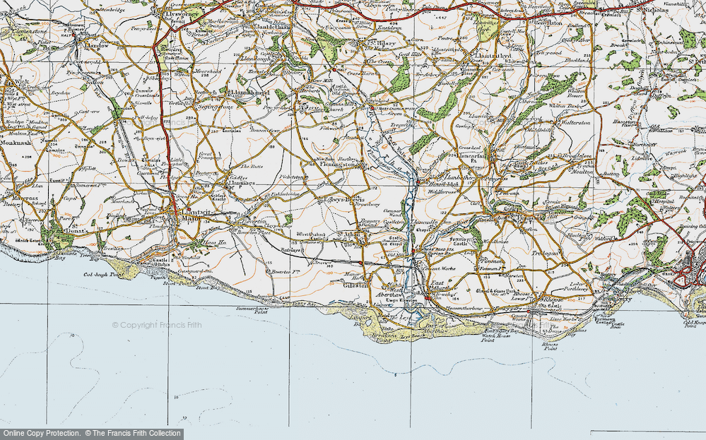 Old Map of Beggars Pound, 1922 in 1922