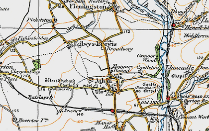 Old map of Beggars Pound in 1922