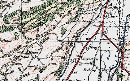 Old map of Belan in 1921