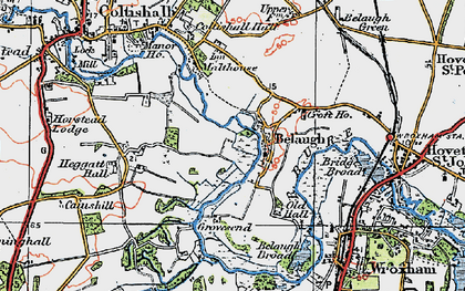 Old map of Belaugh in 1922