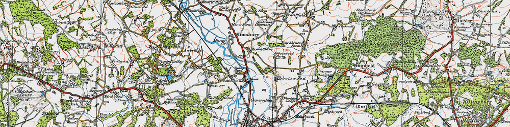 Old map of Abbotswood in 1919