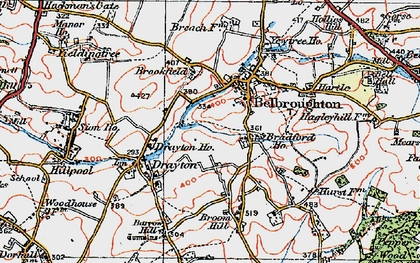 Old map of Belbroughton in 1921