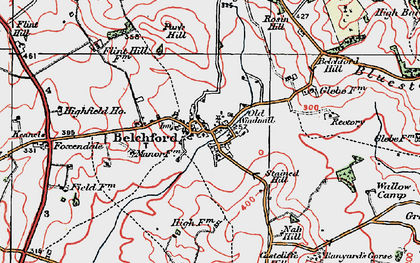 Old map of Belchford in 1923