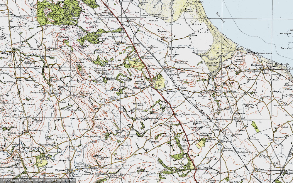 Old Map of Historic Map covering Whitelee in 1926