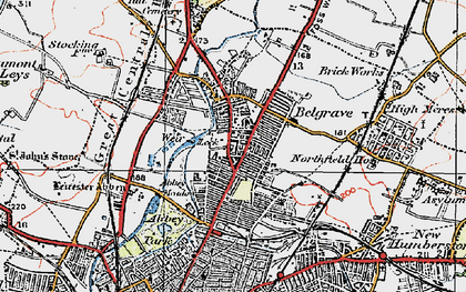 Old map of Belgrave in 1921