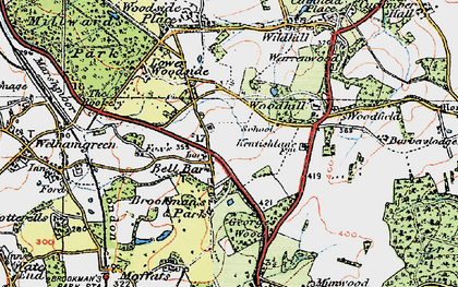 Old map of Bell Bar in 1920