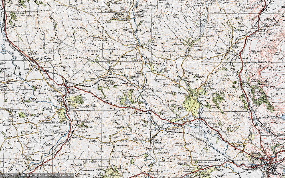 Old Map of Bell Busk, 1924 in 1924
