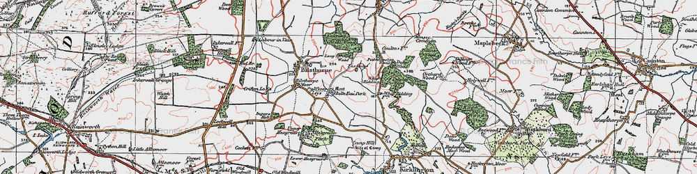 Old map of Whip Ridding Cott in 1923