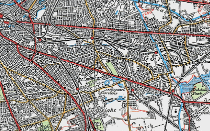 Old map of Belle Vue in 1924