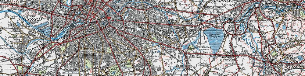 Old map of Belle Vue in 1924