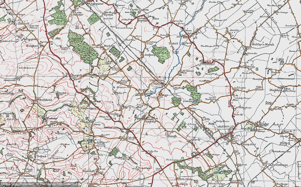 Old Map of Belleau, 1923 in 1923