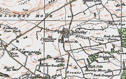 Old map of Bellerby in 1925