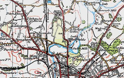 Old map of Bellfields in 1920