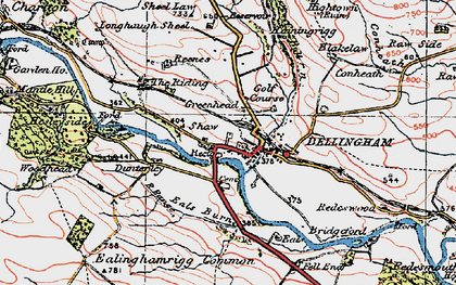 Old map of Bellingham in 1925