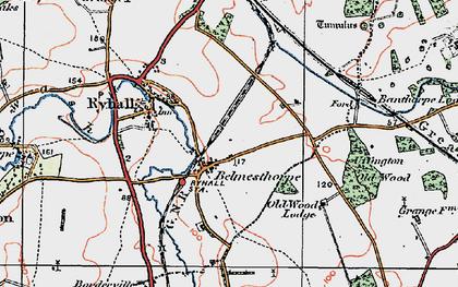 Old map of Belmesthorpe in 1922