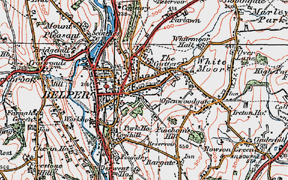 Old map of Belper in 1921