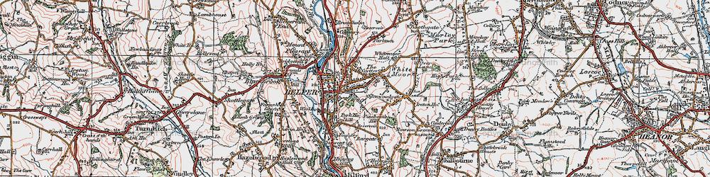 Old map of Belper in 1921