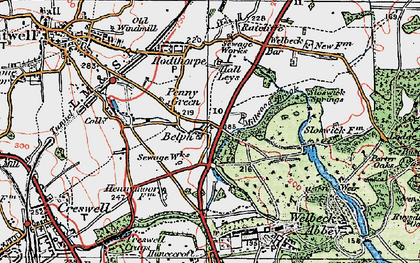 Old map of Belph in 1923
