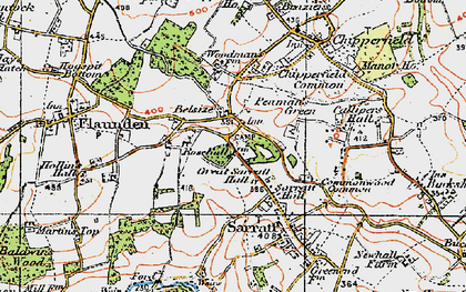 Old map of Belsize in 1920