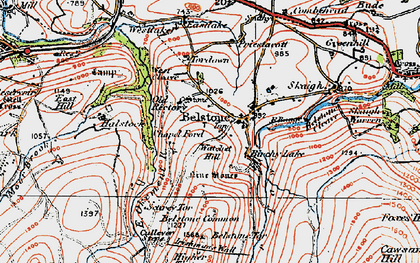 Old map of Westlake in 1919