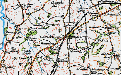 Old map of Witheybrook in 1919