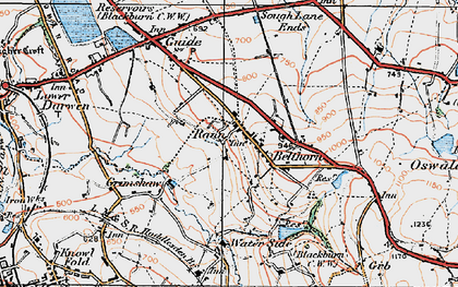 Old map of Belthorn in 1924