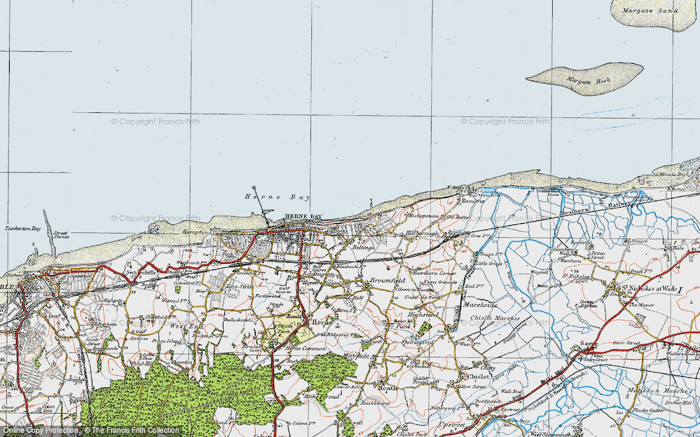 Old Map of Beltinge, 1920 in 1920