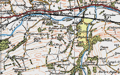 Old map of Wool Ho in 1925