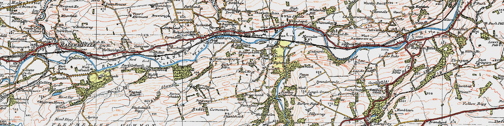 Old map of Willimoteswick in 1925