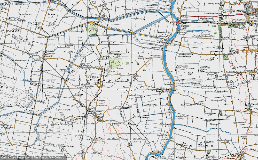 Old Map of Beltoft, 1923 in 1923