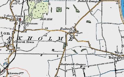 Old map of Beltoft in 1923