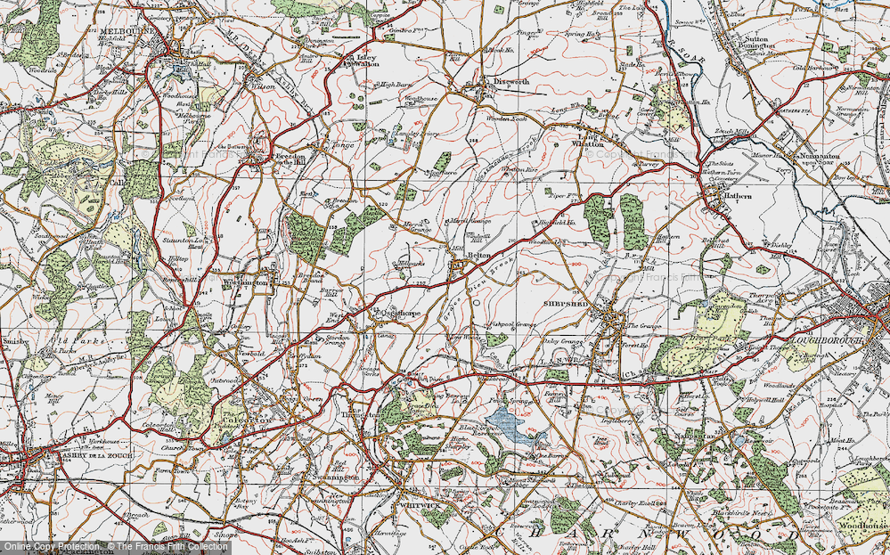 Old Map of Belton, 1921 in 1921