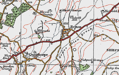 Old map of Belton in 1921