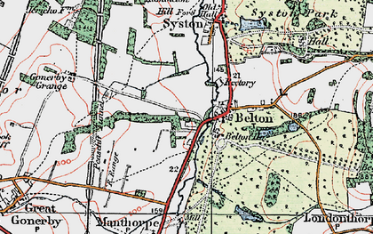 Old map of Belton in 1922