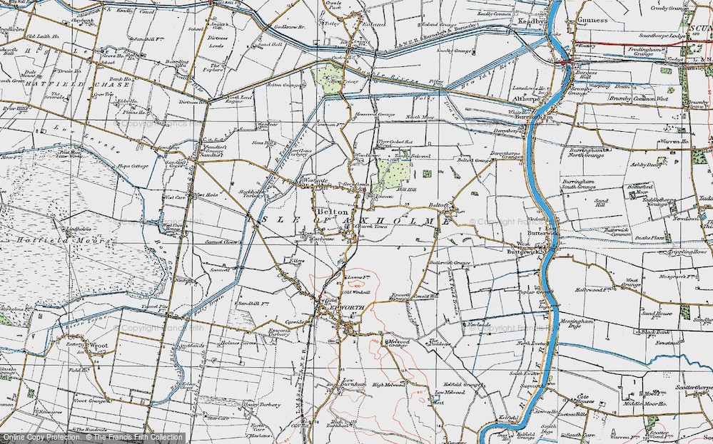Old Map of Belton, 1923 in 1923