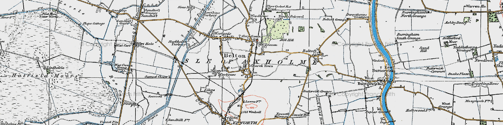 Old map of Belton in 1923