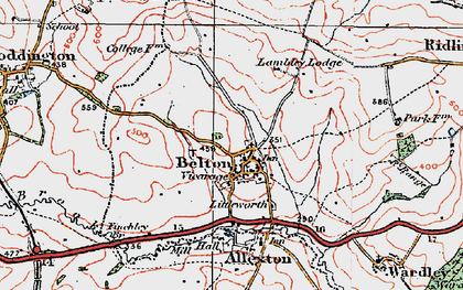Old map of Belton-in-Rutland in 1921