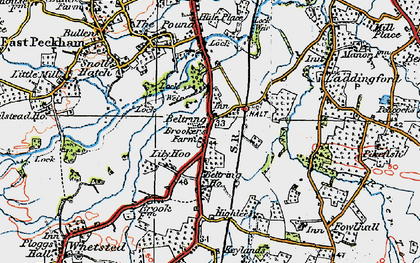 Old map of Lily Hoo in 1920
