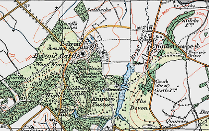 Old map of Belvoir in 1921