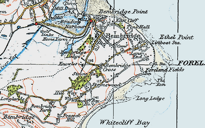 Old map of Bembridge in 1919