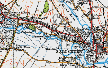 Old map of Bemerton in 1919