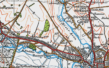 Old map of Bemerton Heath in 1919