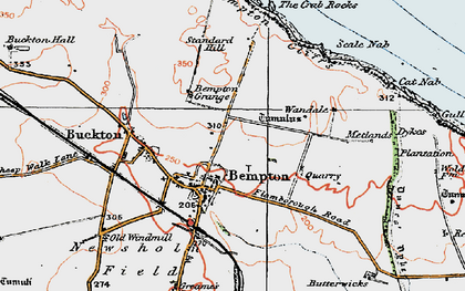 Old map of Bempton in 1924