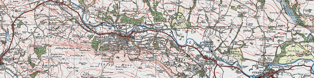 Old map of West Park Wood in 1925