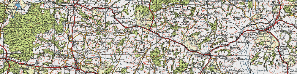 Old map of Benenden in 1921