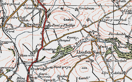 Old map of Afon Cleddau in 1922