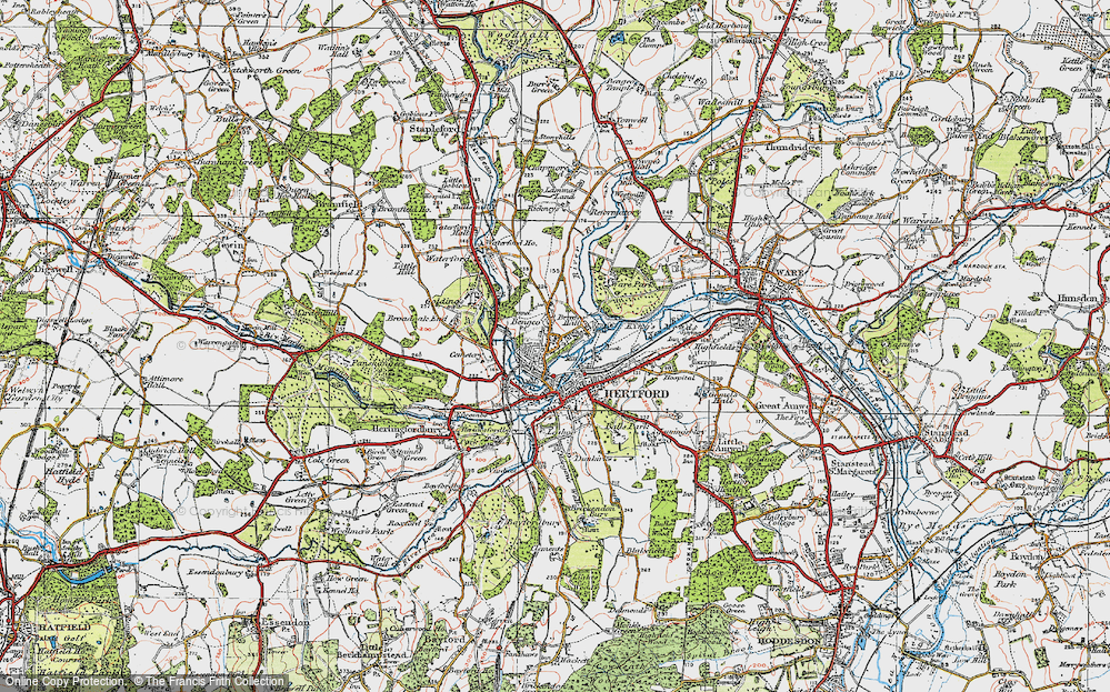 Old Map of Bengeo, 1919 in 1919